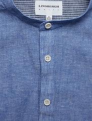 Lindbergh - Linen shirt L/S - puuvillapaidat - blue - 3