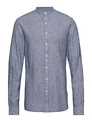 Linen shirt L/S - BLUE STRIPED