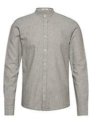 Linen shirt L/S - GREY STRIPED