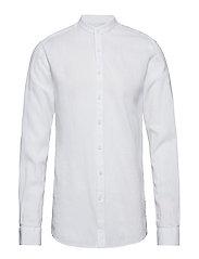 Linen shirt L/S - WHITE