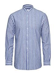 Linen mandarin shirt L/S