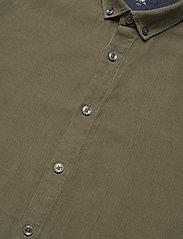 Lindbergh - L/S corduroy shirt - peruspaitoja - army - 4