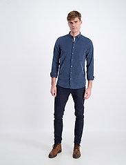 Lindbergh - L/S corduroy shirt - peruspaitoja - navy - 0