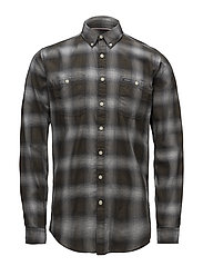 Herringbone check shirt - BLACK