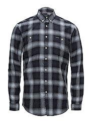 Herringbone check shirt - BLUE