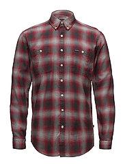 Herringbone check shirt - RED