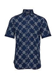 Printed S/S shirt - INDIGO