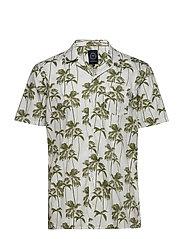 Hawaiian printed S/S shirt - OFF WHITE