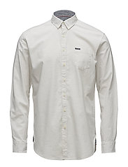 Small herringbone shirt L/S - LIGHT GREY