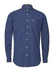 Ditsy jacquard L/S shirt - NAVY