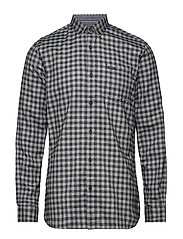 Mélange gingham L/S shirt - BLACK