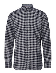 Mélange gingham L/S shirt - NAVY