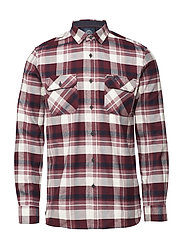 Brushed check L/S shirt - BORDEAUX