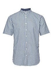 Cotton/linen striped shirt S/S