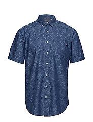 Jacquard shirt S/S - BLUE