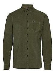 Corduroy L/S shirt - DARK ARMY