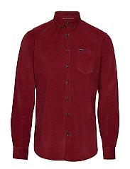 Corduroy L/S shirt - DARK RED