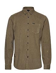 Corduroy L/S shirt - DARK SAND