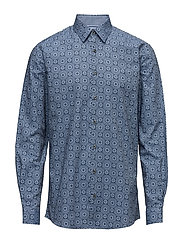 Printed shirt L/S - BLUE