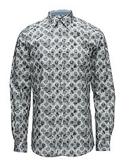AOP stretch shirt L/S - AQUA