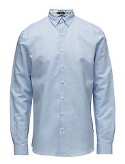 Cotton linen shirt L/S - LIGHT BLUE