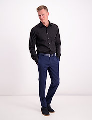 Lindbergh - Plain fine twill shirt,WF - basic shirts - black - 0