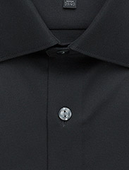 Lindbergh - Plain fine twill shirt,WF - basic shirts - black - 3