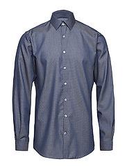 Jacquard shirt L/S - NAVY