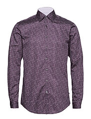 Printed shirt L/S - BURGUNDY