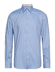 Structure shirt w contrast L/S - LIGHT BLUE