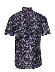 Mini floral AOP shirt S/S - BLUE