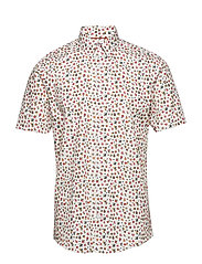Mini floral AOP shirt S/S - WHITE