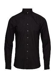 Oxford shirt L/S - BLACK