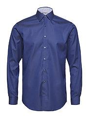 Square pattern shirt L/S - NAVY