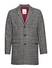 Checked coat - GREY CHECK