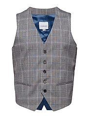 Waist coat for checked suit - GREY CHECK