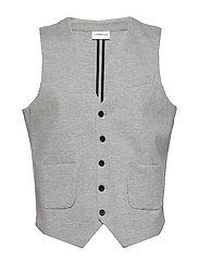 Knitted waistcoat - LT GREY MIX