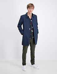Lindbergh - Technical mac coat - kevyet päällystakit - navy - 0