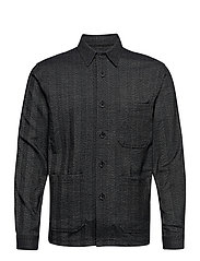Herringbone overshirt - BLACK MIX