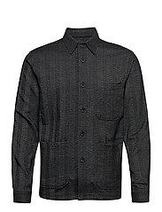 Herringbone overshirt - BLACK MIX