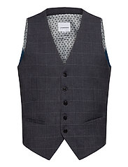 Checked waist coat - GREY CHECK