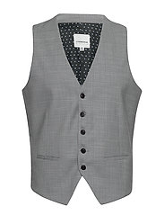 Checked waist coat - LT GREY CHECK