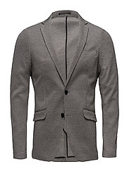 Knitted houndtooth blazer - BLACK