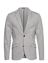 Superflex knitted blazer - LT GREY MIX