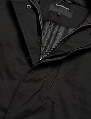 Lindbergh - Twill coat w detachable collar - manteaux legères - black - 4