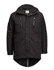 Functional jacket with detachable inner jacket - BLACK