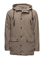 Light parka jacket - SAND