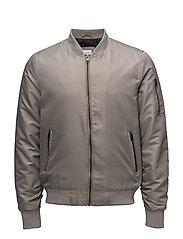 Short bomber jacket - SAND