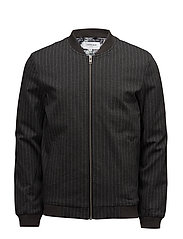 Bonded jersey cardigan - GREY MEL