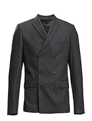Double breasted wool blazer - GREY MIX